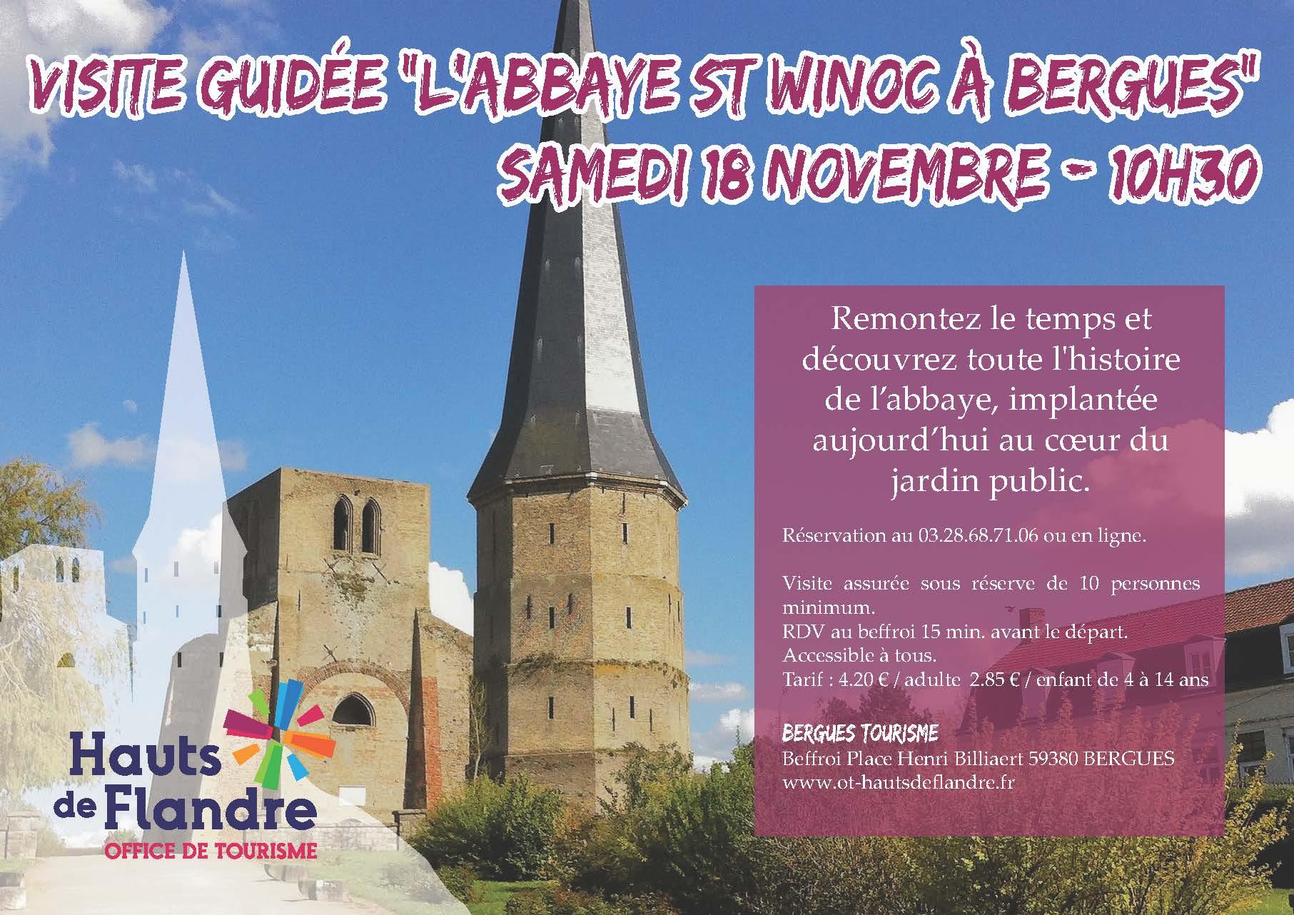 Visite guid e l 39 abbaye st winoc bergues office de tourisme des hauts de flandre - Office de tourisme saint antoine l abbaye ...