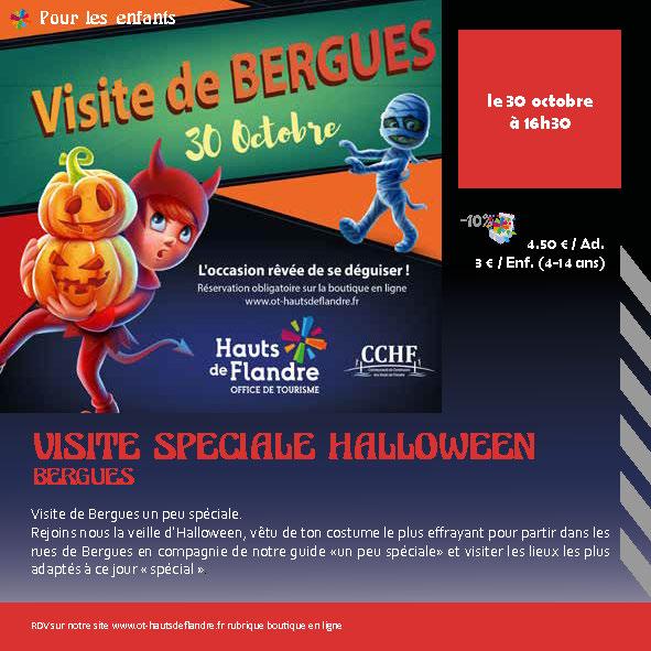 Visite de Bergues le jour d'Halloween