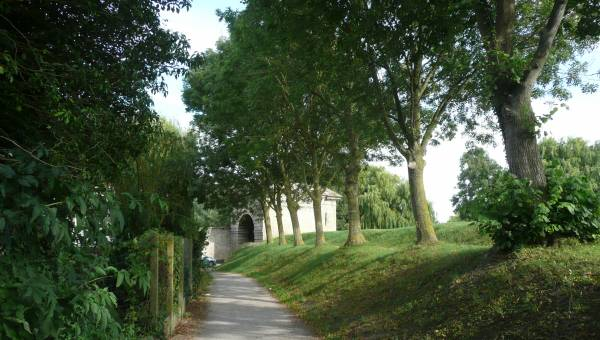 Old stones and ramparts in Bergues